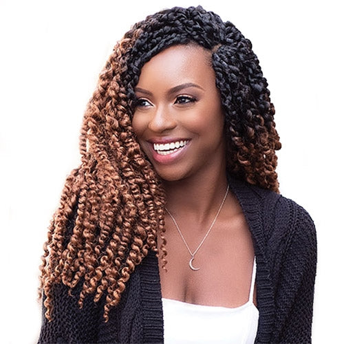 JANET COLLECTION SYNTHETIC HAIR CROCHET BRAIDS NALA TRESS BOHO TWIST BRAID 18