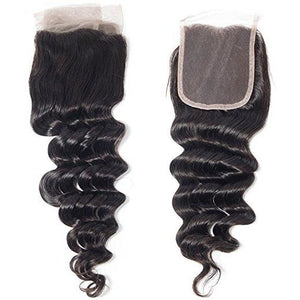 Mink Hair Lace Closure 4*4 100% Full Cuticle Virgin Hair