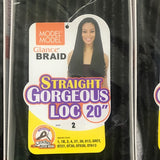 Model Model Synthetic Braid - STRAIGHT GORGEOUS  LOC 20""