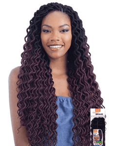 MODEL MODEL GLANCE CROCHET BRAID 2X LITE SOFT CURLY FAUX LOC 20 INCH