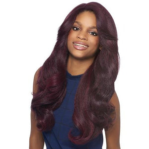 Outre Synthetic Lace Front L Part Batik Bundle Hair Dominican Blow Out Relaxed