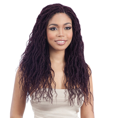 MODEL MODEL SYNTHETIC HAIR CROCHET BRAIDS GLANCE 3X WAVY FEATHERED TWIST 16