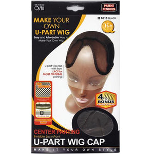 QFITT: Center Parting Invisible Lace Front U-Part Wig Cap
