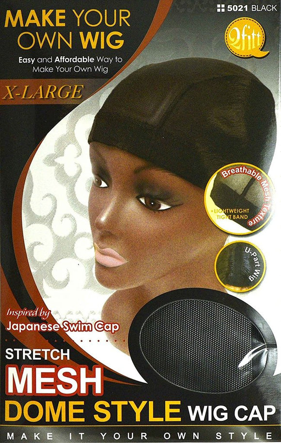 QFITT: Stretch Mesh Dome Style Wig Cap- XL