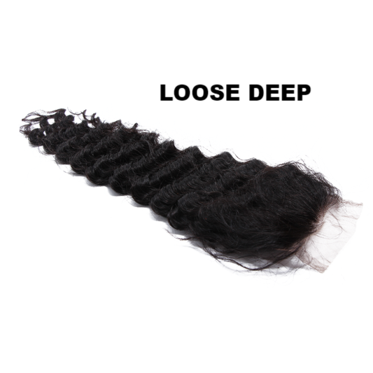 8A Grade 4x4 Lace Closure -Loose Deep