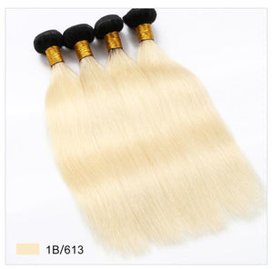 10A Grade Blonde #1b/613 Straight  100% Virgin Hair Bundle