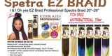 "Spetra EZ BRAID 20"" - Natural looking pre-stretched professional Braid"