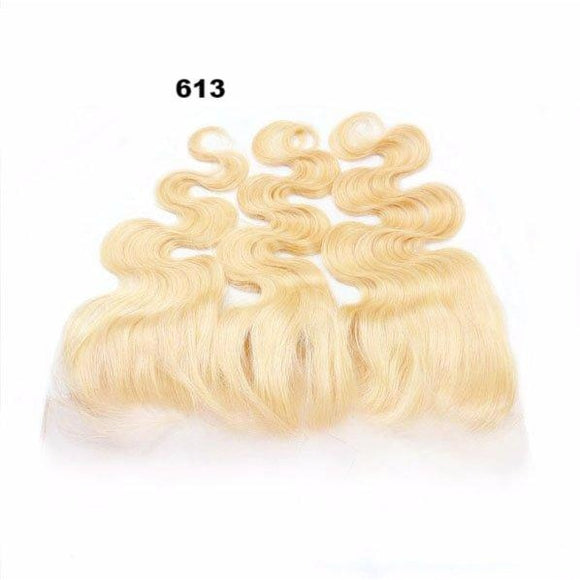 10A Grade 13*4 Blonde Lace Frontal #613 100% Virgin Hair