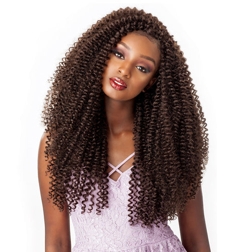 SENSATIONNEL SYNTHETIC HAIR CROCHET BRAIDS LULUTRESS WATER WAVE 18