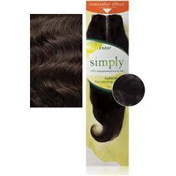 "Simply Brazilian Lace Parting Piece Unprocessed Closure Natural WAVE 10"" - Color NBLK"