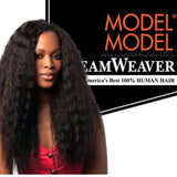 MODEL MODEL DREAM WEAVER  Super Bulk  ( Wet & Wavy )/ 100% Human Hair