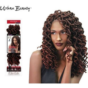 "Urban Beauty Lady Goddess Faux Locks 18""  Crochet Hair"