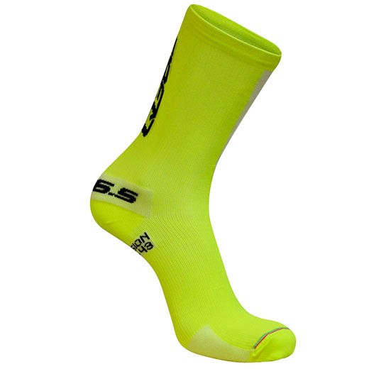 Calcetines Q36.5 COMPRESSION Amarillo Fluor