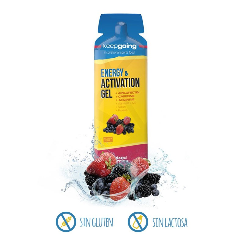 Gel Energy & Activation Keepgoing Frutas del bosque
