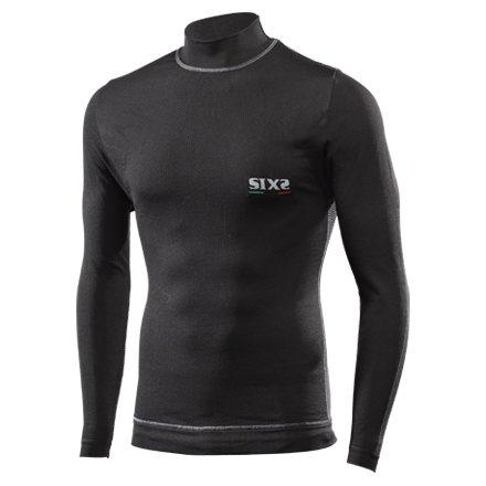 Camiseta Interior Six2 Manga Larga TS4 PLUS Negra Hombre