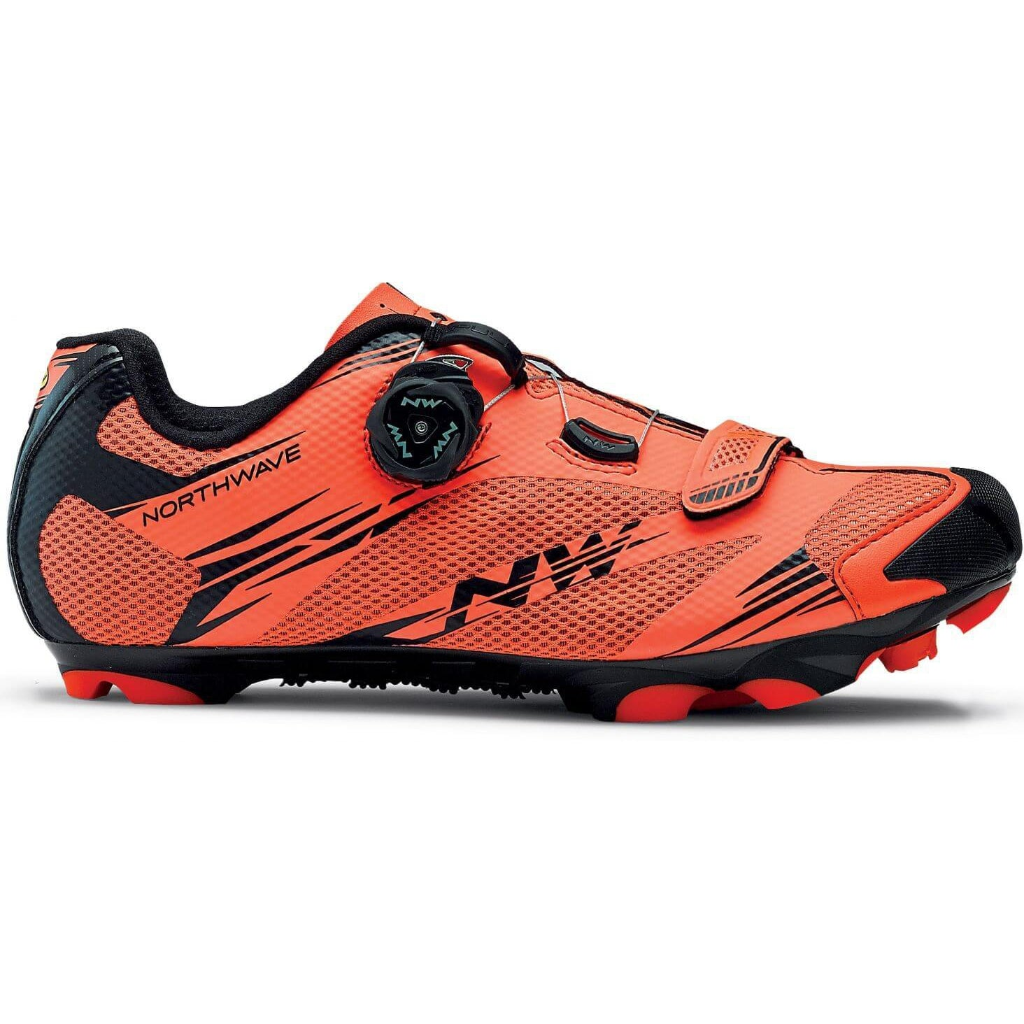 Zapatillas Northwave SCORPIUS 2 PLUS Naranja Lobster - Negro