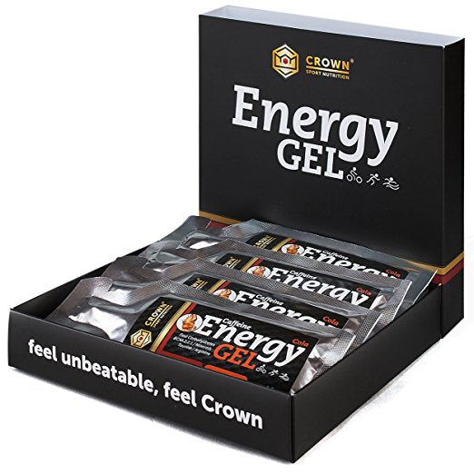 Caja Energy Gel x 12 uds. Frutos Rojos (cafeína). Crown Sport Nutrition