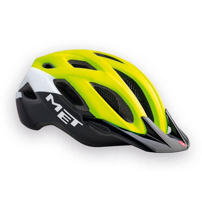 Casco Met Crossover Amarillo