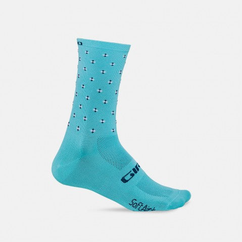 Calcetines Giro Comp Racer High Rise. Gris/ Verde Menta