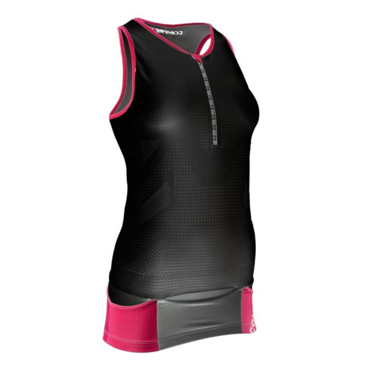 Camiseta Compressport TR3 TANK TOP Negro Mujer