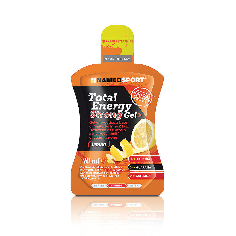 Total Energy Strong Gel Limón 40ml. Named Sport