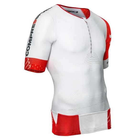 Camiseta Compressport TR3 Aero Top Blanco Hombre