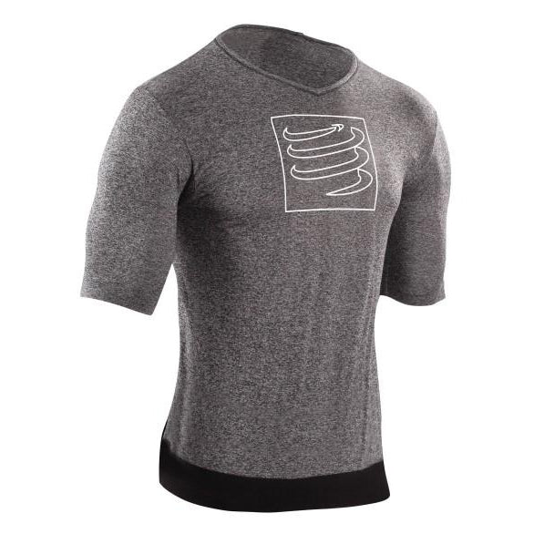 Camiseta Compressport Training Gris Melange Hombre