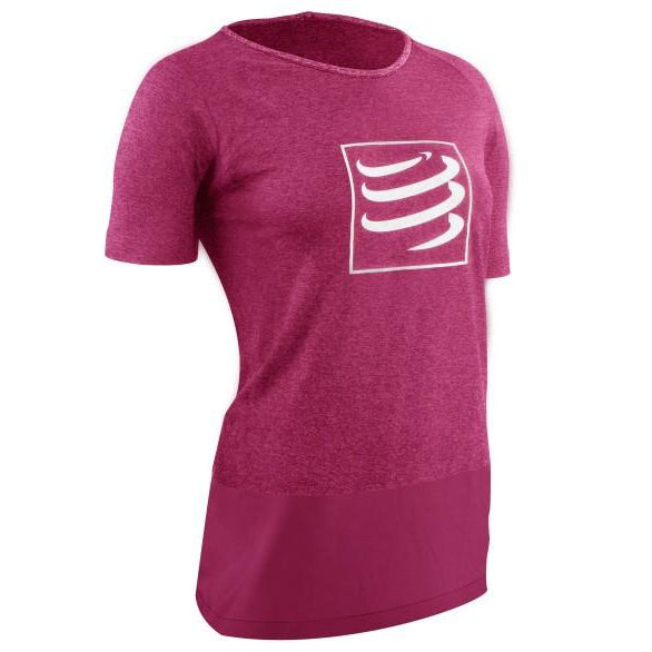 Camiseta Compressport Training Rosa Mujer