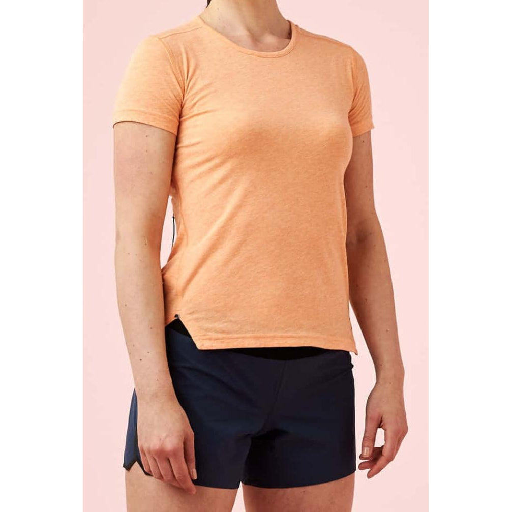 Camiseta ON Running Comfort-T Coral Mujer