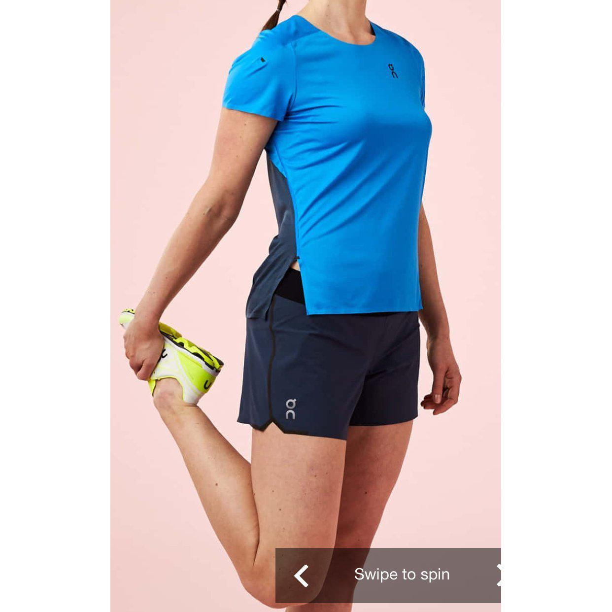 Camiseta ON Running PERFORMANCE-T Malibu Navy Mujer