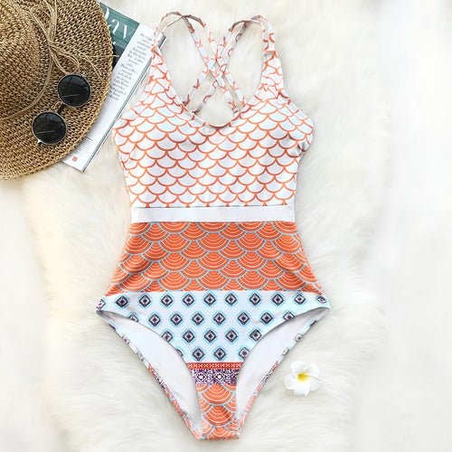 Mermaid World One-piece Swimsuit