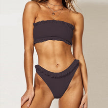 Load image into Gallery viewer, MALIA Ruffled Crinkle Bandeau Bikini