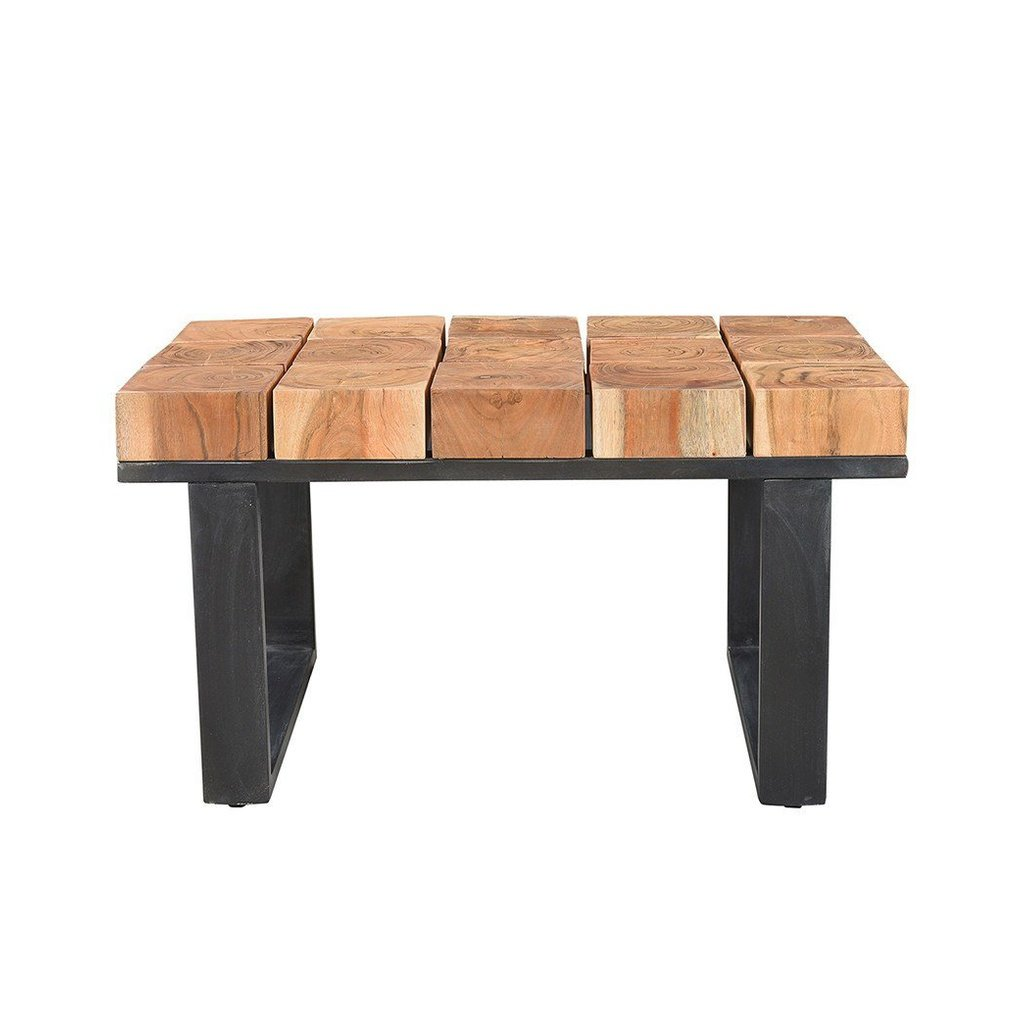 Solid Acacia Wood Coffee Table With Iron Legs. Coffee Tables   Uniquely Curated HOME