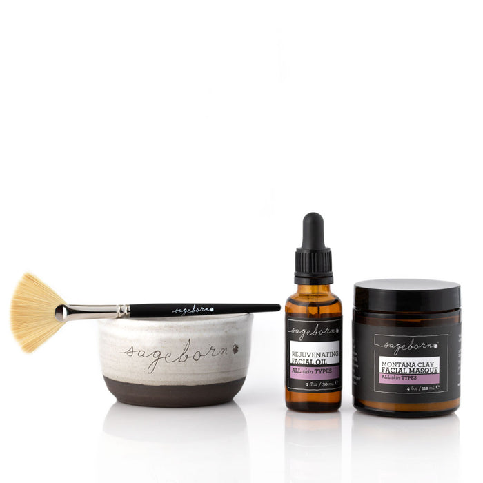 Rejuvenating Oil + Clay Facial Masque Kit