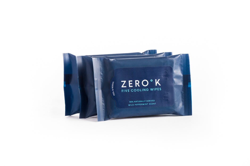 Zero K Wipes - 3 Packs - (5 Wipes Per Pack, 15 Wipes Total)