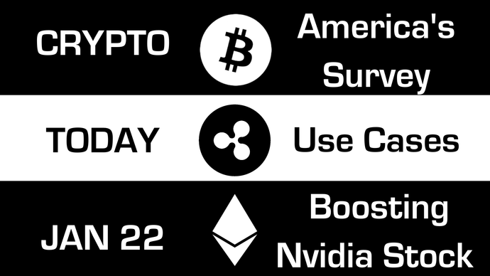 Study: 6 in 10 Americans Have Heard of Bitcoin, Ripple Founder Talks About Blockchain Use Cases, How Ethereum has Caused a Rise in NVIDIA and AMD stock