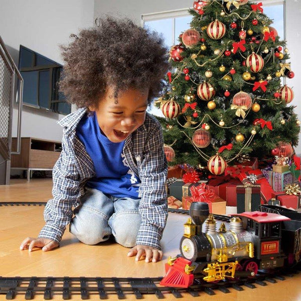 mota holiday train set with smoke and sound best seller - Christmas Tree Train Sets