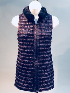Quilted Stretch Vest Navy