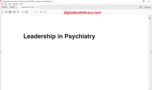 Leadership in Psychiatry 1st Edition - PDF Version