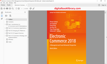 Electronic Commerce 2018: A Managerial and Social Networks Perspective 9th Edition - PDF Version