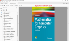 Mathematics for Computer Graphics 5th Edition - PDF Version