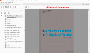 The Architect's Handbook of Professional Practice 15th Edition (Ebook, PDF)