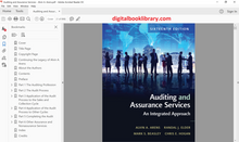 Auditing and Assurance Services 16th Edition (Ebook, PDF)