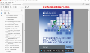 Structural Methods in Molecular Inorganic Chemistry 1st Edition - PDF Version