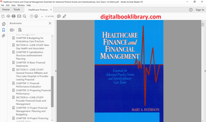 Healthcare Finance and Financial Management: Essentials for Advanced Practice Nurses and Interdisciplinary Care Teams 1st Edition - PDF Version