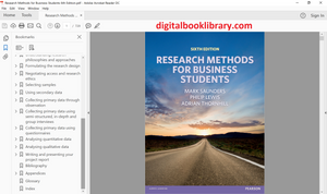 Research Methods for Business Students 6th Edition - PDF Version