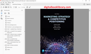 Marketing Strategy and Competitive Positioning 6th Edition - PDF Version