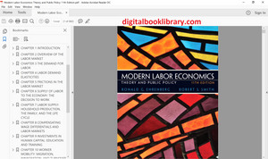 Modern Labor Economics: Theory and Public Policy 11th Edition - PDF Version