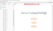 Abnormal Psychology 16th Edition by James N. Butcher - PDF Version
