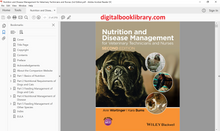 Nutrition and Disease Management for Veterinary Technicians and Nurses 2nd Edition - PDF Version